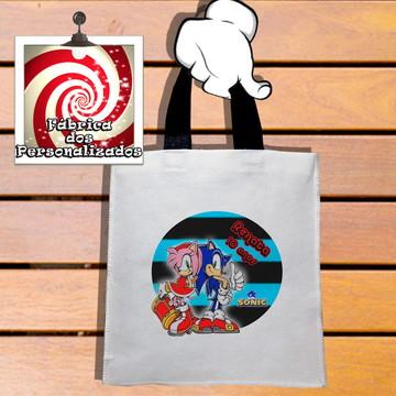 Sacolinha Tema Sonic e Amy Rose Personalizada Unissex!