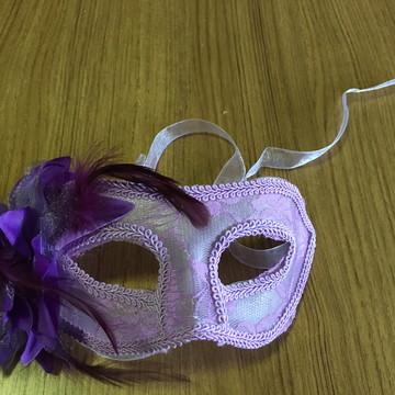 máscara Rendada cor Lilás