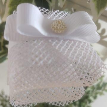 Embalagem para bem casado em Talagarça Branca