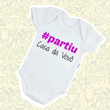 Body Infantil Bebê Poliéster #Partiu Casa do Vovô B440BRP