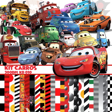 Kit Scrapbook Carros