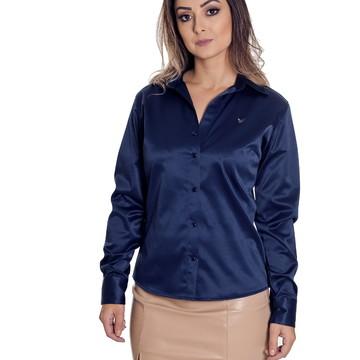 7cc66d59f8 Camisa Feminina Cetim C  Elastano Giulia - Pimenta Rosada