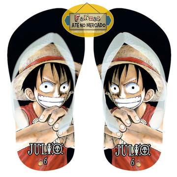 Sandália Personalizada Tema One Piece! Lembrancinha Niver