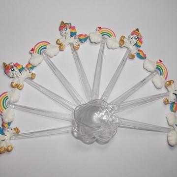 Mini colher Unicórnio Baby/ Arco Íris/ Chuva de Amor biscuit