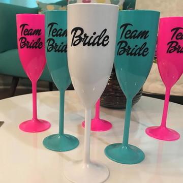 Kit 15 Taças Bride, Team Bride