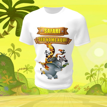 Camiseta Camisa Blusa Disney Safari Animal
