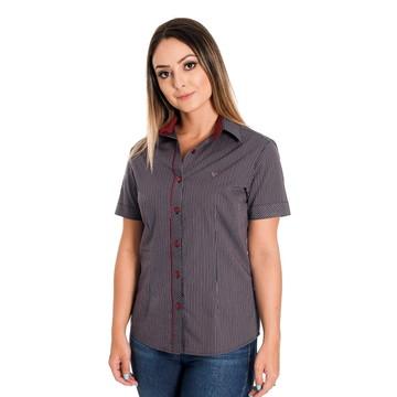 9e8a431a39 Camisa Social Feminina Isabella - Pimenta Rosada FIO EGÍPCIO