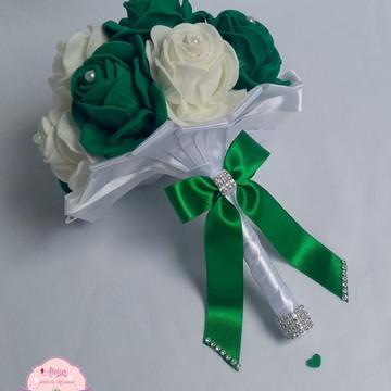 Buquê para madrinhas - Verde e branco