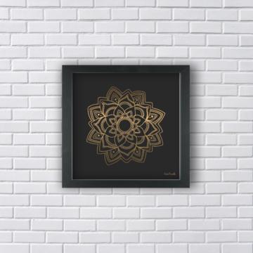Quadro - Mandala Dourada Tamanho P
