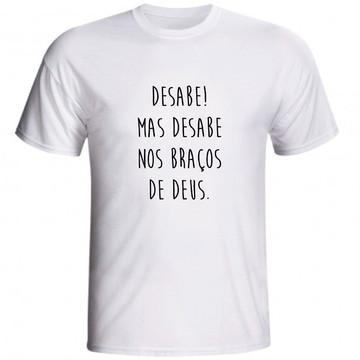Camiseta Cristã Desabe Nos Braços De Deus Evangélica Jovem