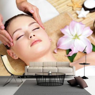 Papel de Parede Massagem Estética Salão Beleza Saúde GG549