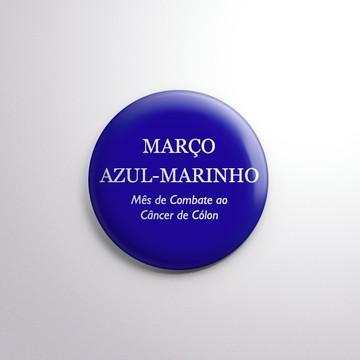 Botton - Março Azul-Marinho (Câncer de Cólon)