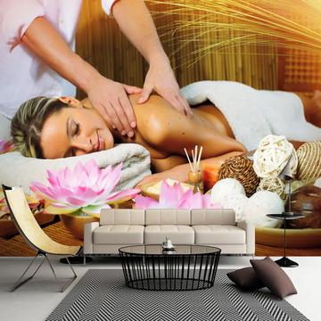 Papel de Parede Massagem Beleza Saúde Bem Estar Spa GG568