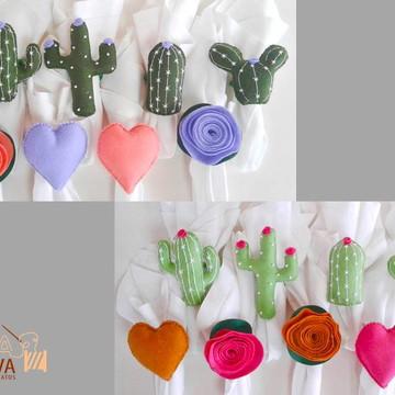 Cactus em feltro porta guardanapo