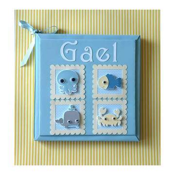 Livro Bebê personalizado Fundo do Mar menino scrapbook