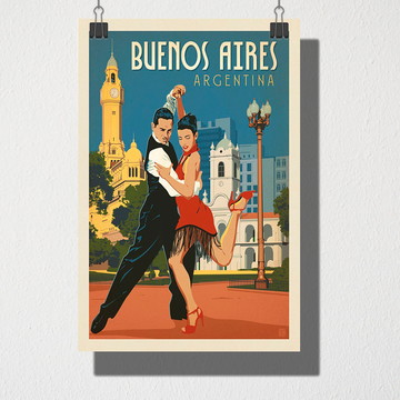 Poster A3 Buernos Aires