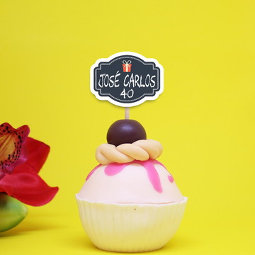Toppers para doces- chalkboard party