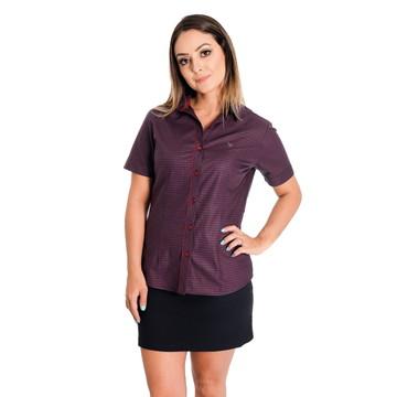 251391943d Camisa Social Feminina Fiorella Pimenta Rosada Fio Egipcio