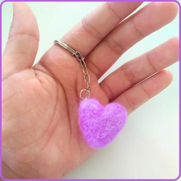 Chaveiro de coração em feltragem