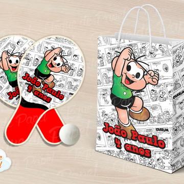 Kit Raquete personalizada Cebolinha