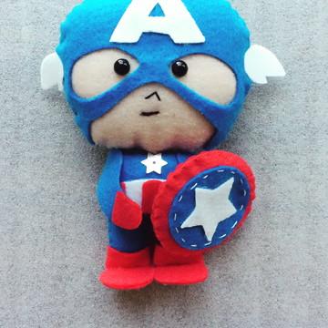Chaveiro do Capitão América em feltro