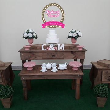 Locação de decoração de Chá de cozinha rustico