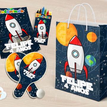 Kit Ping Pong + kit colorir Galáxia