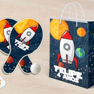 Kit Ping Pong sacola Galáxia