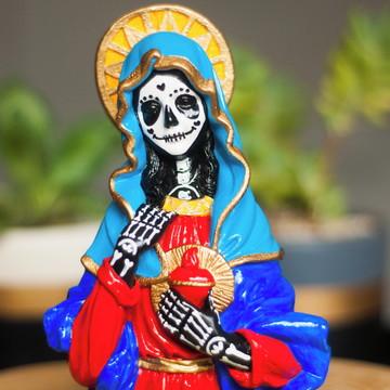 Busto Santa Muerte de Gesso