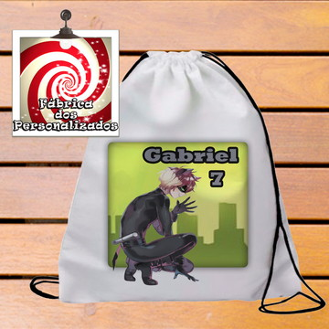 Mochilinha Personalizada Festa Tema Cat Noir Ladybug