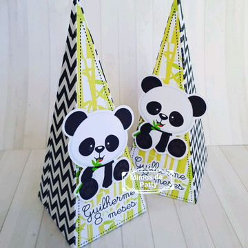 Cone pirâmide ursinho panda