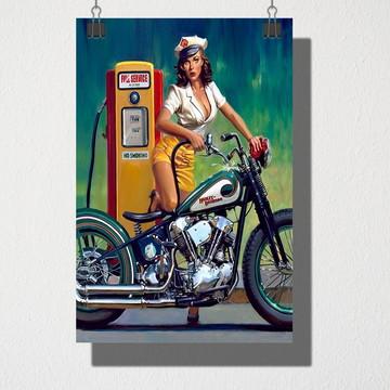 Poster A3 Posto de gasolina