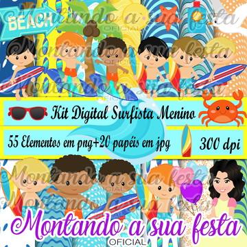 Kit Digital Surfista Menino