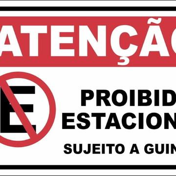 1 Placa Ps 1mm Proibido Estacionar Sujeito A Guincho a125