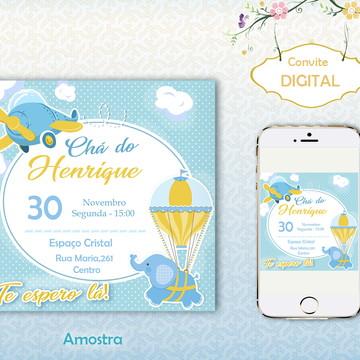 Convite Digital Chá de bebê Personalizado