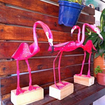 Flamingos de jardim