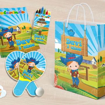 Kit Ping Pong + kit colorir Fazendinha