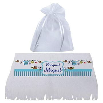 toalhinha para brinde de nascimento -brinde para maternidade