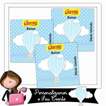 Rótulo para baton balão menino