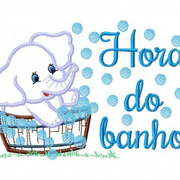 Matriz Bordado Elefante Hora do Banho Agulha Feliz Matrizes