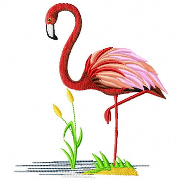 Flamingo - PES/JEF/DST/XXX Matriz Para Bordado