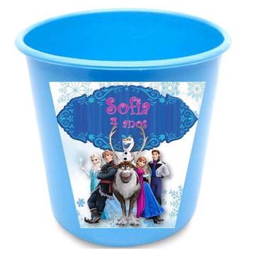Baldinho de Pipocas Personalizado Frozen