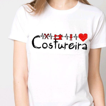 Camiseta costureira,costura, confecção