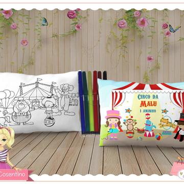 Almofada Pinte e Lave 15x20 - Circo