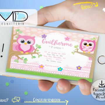 Convite Digital Corujinha Menina
