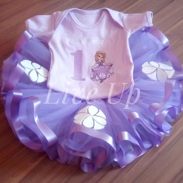 Tutu Princesa Sofia + body infantil