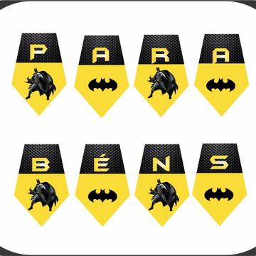 bandeirolas Personalizada Decoração - Batman