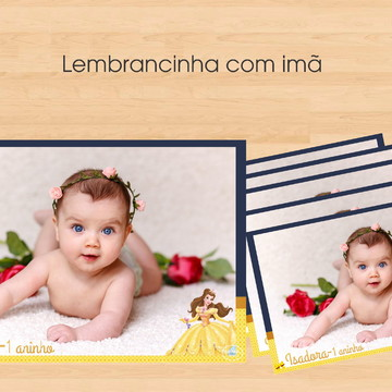FOTO COM IMÃ A BELA E A FERA