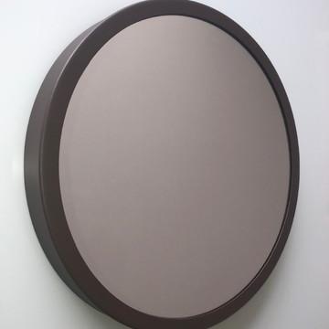 Espelho Redondo 60cm Marrom Adnet Sem Alça
