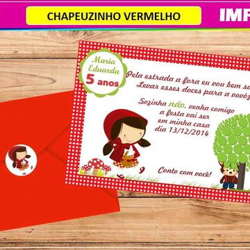 Convite Impresso Chapeuzinho Vermelho